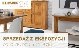 Od 23.10 do 19.11.2018 sprzedaż mebli z ekspozycji w salonie Ludwik Styl